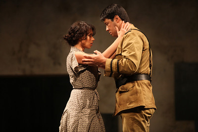 Ginger Costa-Jackson as Carmen and Adam Diegel as Don José in The Glimmerglass Festival's 2011 production of Bizet's Carmen. Photo: Julieta Cervantes.