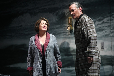 Patricia Schuman as Carlotta Monterey and David Pittsinger as Eugene O'Neill in The Glimmerglass Festival's production of A Blizzard On Marblehead Neck. Photo: Julieta Cervantes.