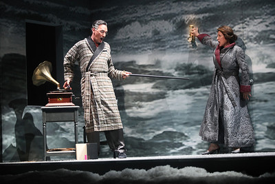David Pittsinger as Eugene O'Neill and Patricia Schuman as Carlotta Monterey in The Glimmerglass Festival's production of A Blizzard On Marblehead Neck. Photo: Julieta Cervantes.