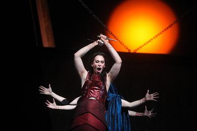 Alexandra Deshorties in the title role of The Glimmerglass Festival's 2011 production of Cherubini's Medea. Photo: Julieta Cervantes.
