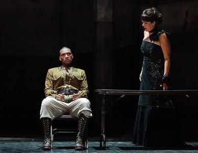 Noah Stewart as Radamès and Daveda Karanas as Amneris in The Glimmerglass Festival's production of Aida. Photo: Karli Cadel/The Glimmerglass Festival.
