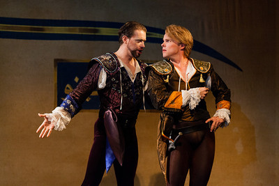 Olivier Laquerre as Chevalier Ubalde and Colin Ainsworth as Renaud in The Glimmerglass Festival/Opera Atelier production of Armide. Photo: Karli Cadel/The Glimmerglass Festival.