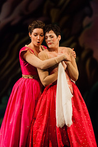 Peggy Kriha Dye as Armide and Mireille Asselin as Phénice in The Glimmerglass Festival/Opera Atelier production of Armide. Photo: Karli Cadel/The Glimmerglass Festival.