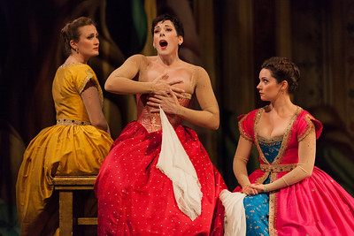 L to R: Meghan Lindsay as Sidonie, Peggy Kriha Dye as Armide and Mireille Asselin as Phénice in The Glimmerglass Festival/Opera Atelier production of Armide. Photo: Karli Cadel/The Glimmerglass Festival.