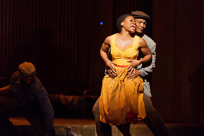Chrystal E. Williams as Linda with ensemble member Thesele Kemane in The Glimmerglass Festival's production of Kurt Weill and Maxwell Anderson's Lost in the Stars. Photo: Karli Cadel/The Glimmerglass Festival.