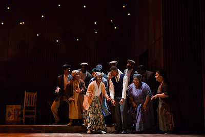 The ensemble of The Glimmerglass Festival's production of Kurt Weill and Maxwell Anderson's Lost in the Stars. Photo: Karli Cadel/The Glimmerglass Festival.