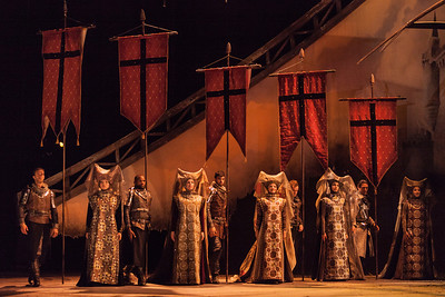 The chorus in The Glimmerglass Festival's 2013 production of Camelot. Photo: Karli Cadel/The Glimmerglass Festival.