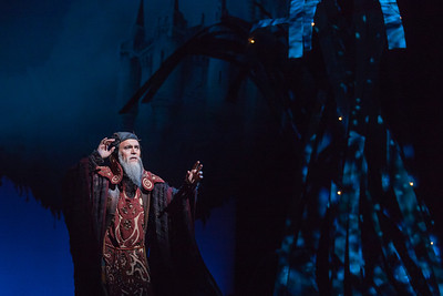 Wynn Harmon as Merlyn in The Glimmerglass Festival's 2013 production of Camelot. Photo: Karli Cadel/The Glimmerglass Festival.