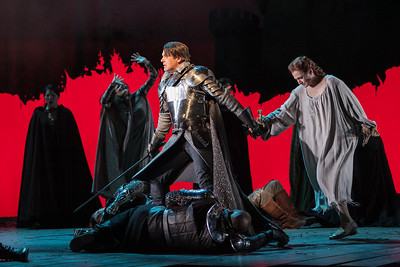 Nathan Gunn as Lancelot and Andriana Chuchman as Guenevere in The Glimmerglass Festival's 2013 production of Camelot. Photo: Karli Cadel/The Glimmerglass Festival.