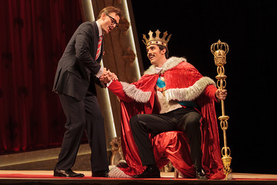 Jason Hardy as Baron Kelbar and Alex Lawrence as Belfiore in The Glimmerglass Festival's 2013 production of Verdi's King for a Day. Photo: Karli Cadel/The Glimmerglass Festival.