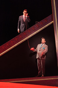 Jason Hardy as Baron Kelbar and Andrew Wilkowske as La Rocca in The Glimmerglass Festival's 2013 production of Verdi's King for a Day. Photo: Karli Cadel/The Glimmerglass Festival.