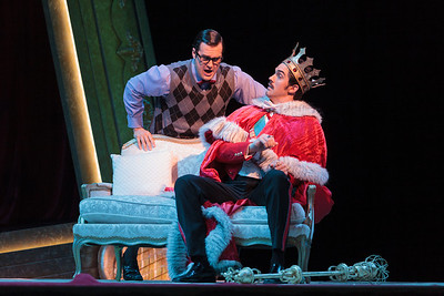Patrick O'Halloran as Edoardo and Alex Lawrence as Belfiore in The Glimmerglass Festival's 2013 production of Verdi's King for a Day. Photo: Karli Cadel/The Glimmerglass Fesitval.