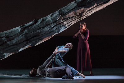 L to R: Ensemble members Jason Fowler and Anne O'Donnell with soprano Nadine Sierra in The Glimmerglass Festival's 2013 Pergolesi's Stabat Mater. Photo: Karli Cadel/The Glimmerglass Festival.