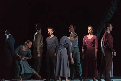 L to R: Anthony Roth Costanzo (left center) and Nadine Sierra (right center) with the ensemble in The Glimmerglass Festival's 2013 production of Pergolesi's Stabat Mater. Photo: Karli Cadel/The Glimmerglass Festival.
