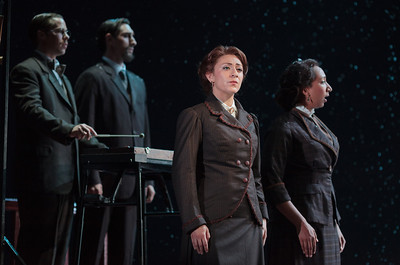 L to R: Michael Porter, Christian Zaremba, Julia Mintzer and Lisa Williamson in The Glimmerglass Festival's 2013 production of David Lang's the little match girl passion. Photo: Karli Cadel/The Glimmerglass Festival.