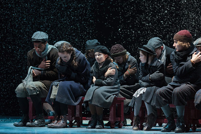 The children's chorus in The Glimmerglass Festival's 2013 production of David Lang's the little match girl passion. Photo: Karli Cadel/The Glimmerglass Festival.