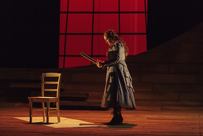 Melody Moore as Senta in The Glimmerglass Festival's 2013 production of Wagner's The Flying Dutchman. Photo: Karli Cadel/The Glimmerglass Festival.