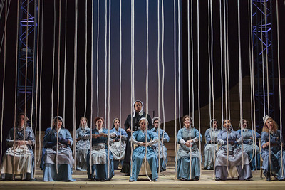 The chorus of The Glimmerglass Festival's 2013 production of Wagner's The Flying Dutchman. Photo: Karli Cadel/The Glimmerglass Festival.
