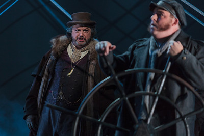 Peter Volpe as Daland (left) and Adam Bielamowicz as the Steersman in The Glimmerglass Festival's 2013 production of Wagner's The Flying Dutchman. Photo: Karli Cadel/The Glimmerglass Festival.