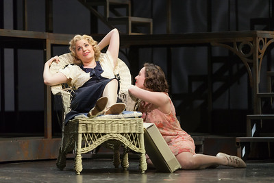"Cynthia Cook as Sondra Finchley and Meredith Lustig as Bella Griffiths in The Glimmerglass Festival's new production of Tobias Picker's ""An American Tragedy."" Photo: Karli Cadel/The Glimmerglass Festival."