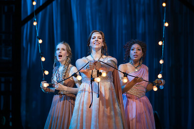 "L to R: Jeni Houser as Naiad, Beth Lytwynec as Dryad and Jacqueline Echols as Echo  in The Glimmerglass Festival's 2014 production of Strauss' ""Ariadne in Naxos."" Photo: Karli Cadel/The Glimmerglass Festival."