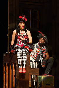 "Rachele Gilmore as Zerbinetta and Carlton Ford as Harlequin in The Glimmerglass Festival's 2014 production of Strauss' ""Ariadne in Naxos."" Photo: Karli Cadel/The Glimmerglass Festival."