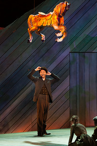 """Ryan McKinny as Billy Bigelow in The Glimmerglass Festival's 2014 production of Rodgers and Hammerstein's """"Carousel."""" Photo: Karli Cadel/The Glimmerglass Festival."""