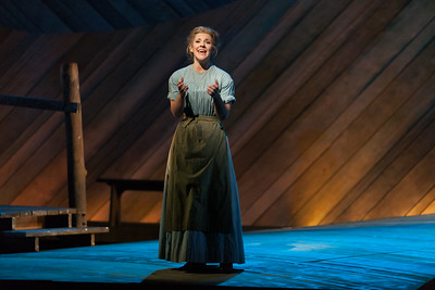 """Sharin Apostolou as Carrie Pipperidge in The Glimmerglass Festival's 2014 production of Rodgers and Hammerstein's """"Carousel."""" Photo: Karli Cadel/The Glimmerglass Festival."""