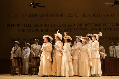 "The ensemble of The Glimmerglass Festival's 2014 production of ""Madame Butterfly."" Photo: Karli Cadel/The Glimmerglass Festival."
