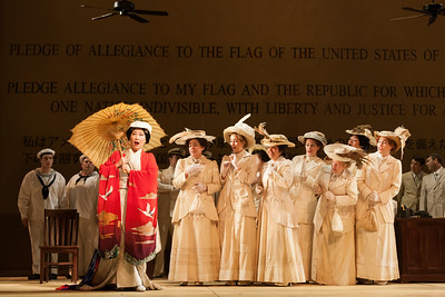 "Yunah Lee as Cio-Cio-San and members of the ensemble in The Glimmerglass Festival's 2014 production of ""Madame Butterfly."" Photo: Karli Cadel/The Glimmerglass Festival."